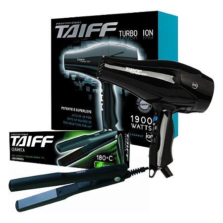 966b7a61f KIT TAIFF 127V - SECADOR TURBO ION 1900W + PRANCHA 180 - KIOSK DIGITAL
