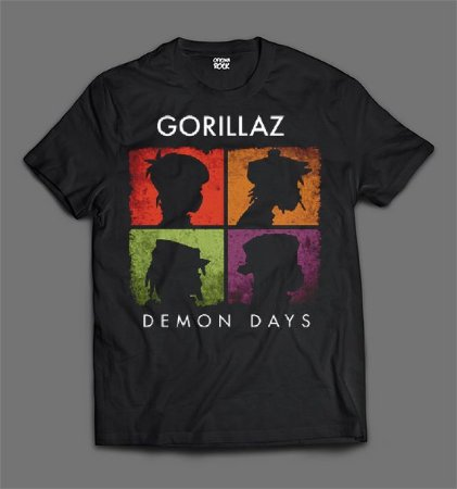 Camiseta - Gorillaz - Demon Days