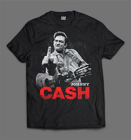 Camiseta - Johnny Cash - Finger.