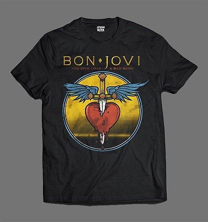 Camiseta - Bon Jovi - Give a Love a Bad Name