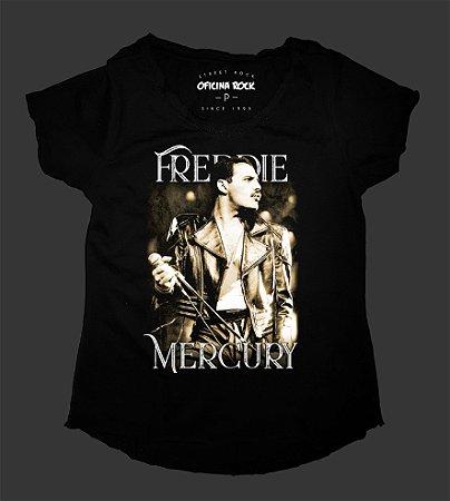 Camiseta - Bata Feminina - Freddie Mercury