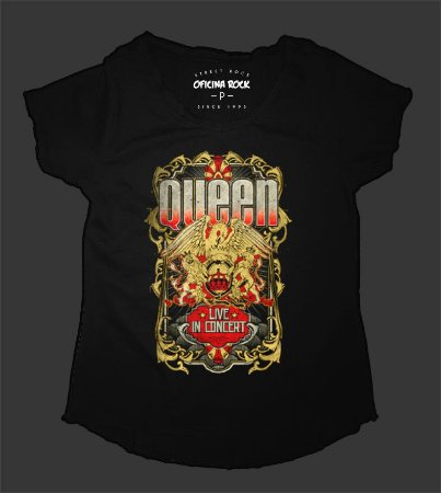 Camiseta - Bata Feminina - Queen Tour