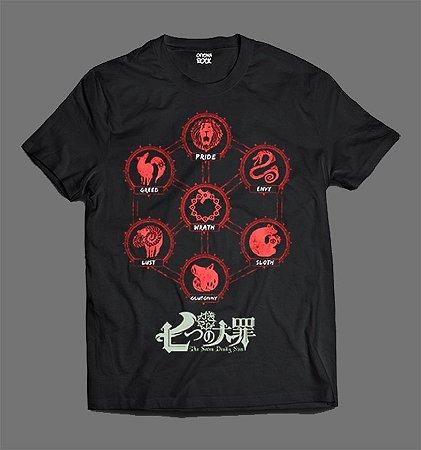 Camiseta - Nanatsu no Taizai - Sete Pecados