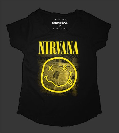 Camiseta - Bata - Feminina - Nirvana - Journal