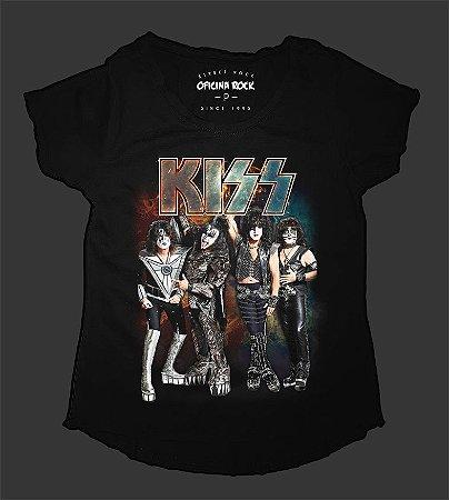 Camiseta - Bata Feminina - Kiss - End of the Road Tour