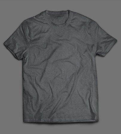Camiseta - Lisa - Cinza Grafite