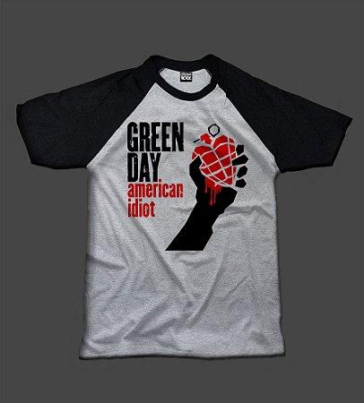 Camiseta Raglan - Green Day - American Idiot