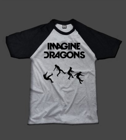 Camiseta Raglan - Imagine Dragons