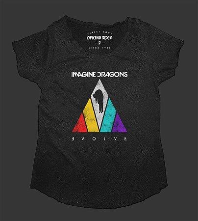 Camiseta - Bata Feminina Especial - Imagine Dragons