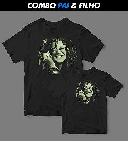 Combo Pai & Filho - Camisetas - Janis Joplin