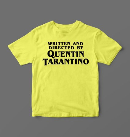 Camiseta - Babylook - Written and Directed By - Quentin Tarantino