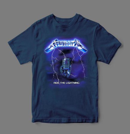 Camiseta Oficial - Metallica - Ride The Lightning