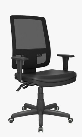 Cadeira presidente Brizza tela com encosto regulável
