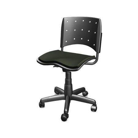 Cadeira secretaria ergoplax sem braço cor preta