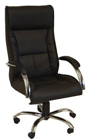 Cadeira Presidente Gaucha com relax corino preto