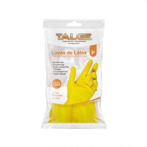 Luva de Latex Para Limpeza Amarela Media (M) - Talge
