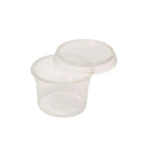 Pote Plástico Redondo 145ml com Tampa Pacote com 24 Unidades - Prafesta