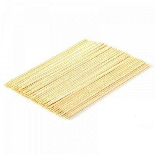 Espeto de Bambu 25cmx3mm Pacote com 50 Unidades