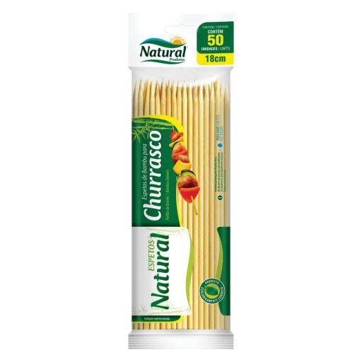 Espeto de Bambu 18cm Pacote com 50 Unidades