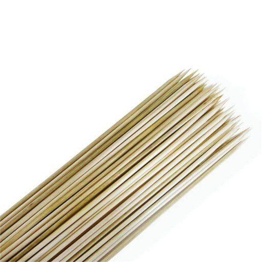 Espeto de Bambu 30cmx3mm a Granel com 50 Unidades