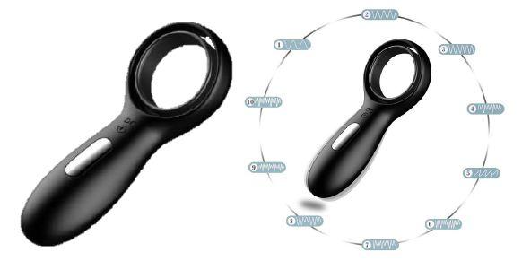 Anel Peniano com Retardador de Ejaculação e Estimulador com Vibro
