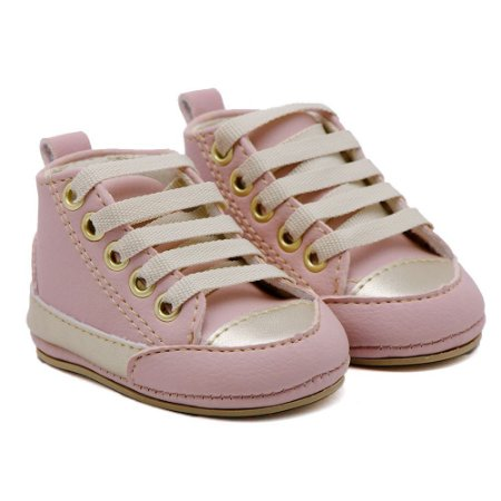 Tenis Infantil Santa Fé - Fashion Rosê com Dourado