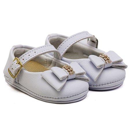 Sapato Feminino Infantil Santa Fé - Branco