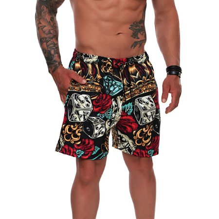 SHORT MASCULINO USE SANTA FÉ SKULL AND DIAMOND REF. 1005