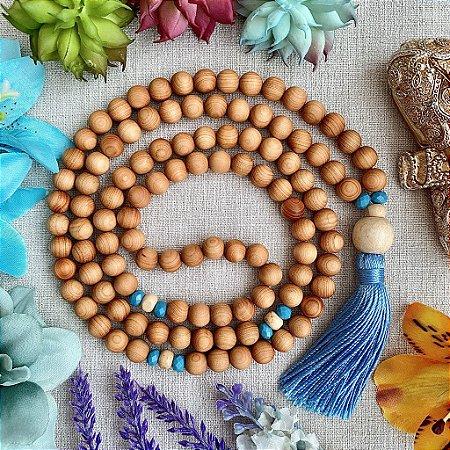 Japamala 108 contas de Sândalo para Facilitar a Intuição, Reduzir a Ansiedade e Harmonizar os Chakras