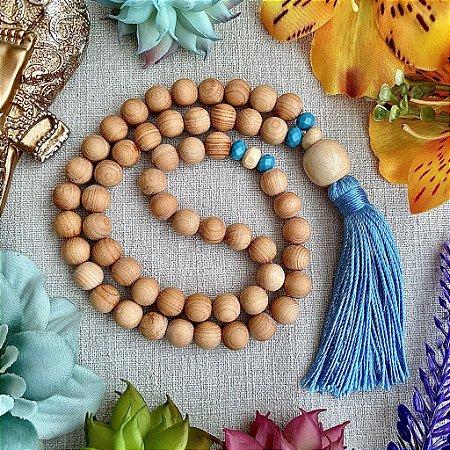 Japamala 54 contas de Sândalo para Facilitar a Intuição, Reduzir a Ansiedade e Harmonizar os Chakras