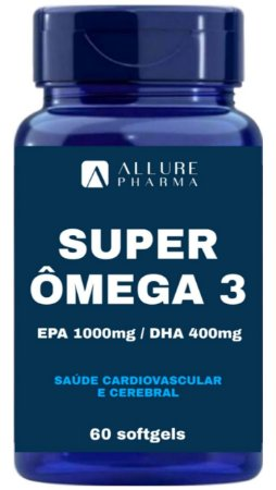 Super Ômega 3 1000mg - 60 Softgels (EPA 1000mg/DHA 400mg)
