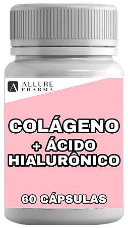 Colágeno Hidrolisado + Ácido Hialurônico - 60 cápsulas
