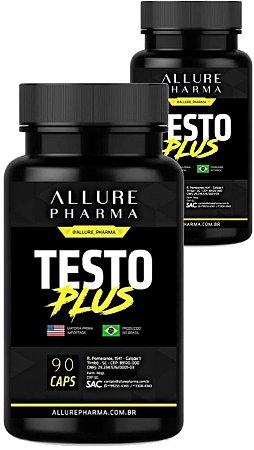 Kit 2 Frascos Testo Plus®️. Potencializa a produção de testosterona - 90 cápsulas cada - Total 180 cápsulas