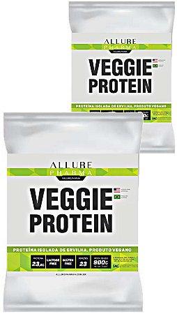Kit Refil Veggie Protein 900g (Proteína Isolada de Ervilha) Vegano - 2 Sachês 900g - Total 1,8kg