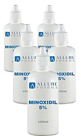 KIT Minoxidil 5% - 100ml  *  Combate a queda capilar  * COMPRE 4 LEVE 5