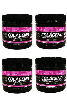 VANTAGEM EM DOBRO - KIT 4 potes de Colágeno Hidrolisado 200g - Cuidados da Pele, Cabelos e Unhas * COMPRE 2 E GANHE 4 *