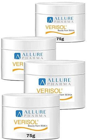 VANTAGEM EM DOBRO - KIT 4 Potes de Verisol® Puro (Selo de autenticidade) Gelita - 120 Doses Total (4 meses) - Peptídeos Bioativos de Colágeno * COMPRE 2 E GANHE 4 *
