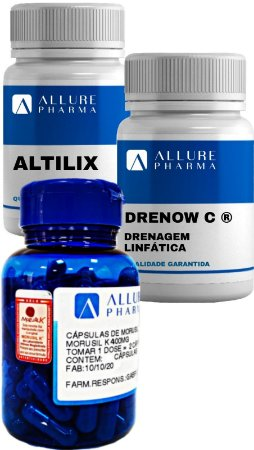 KIT Lipo Detox: Drenagem, Celulite e Gordura  -  1 mês