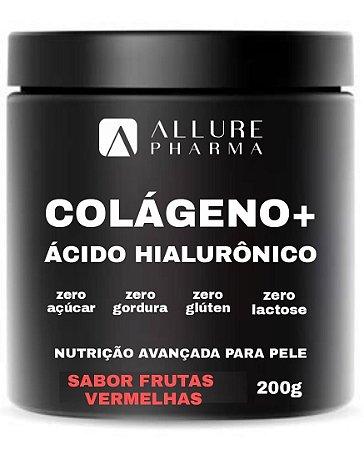 Colágeno Hidrolisado + Ácido Hialurônico 200g - Sabor Frutas Vermelhas