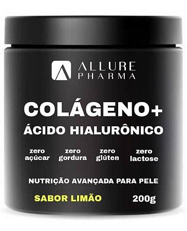 Colágeno Hidrolisado + Ácido Hialurônico 200g - Sabor Limão