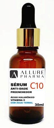 Sérum C10 Anti-Idade Preenchedor - 30ml. Ácido Hialurônico + Vitamina C + Água Termal