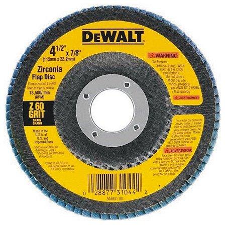 DISCO FLAP G60 115X22MM DEWALT