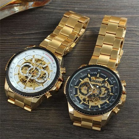 Relógio de Luxo - WINNER Luxo Design Automático!