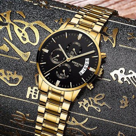 Relógio de Luxo - NIBOSI 2309 (100% Funcional)