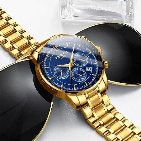 Relógio de Luxo - NIBOSI 2351 (100% Funcional)