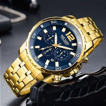 Relógio de Luxo - MEGIR M2068  (100% Funcional)