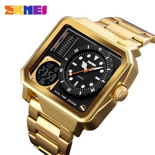 Relógio de Luxo Dual Time - SKMEI 1392