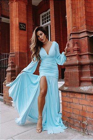 Vestido Núbia Azul Serenity