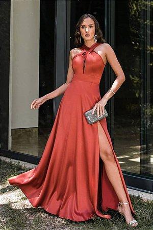 Vestido Marisa Terracota