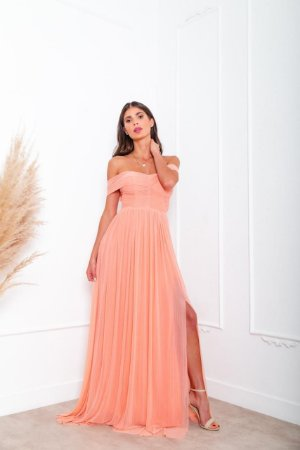 Vestido Monique Lurex Coral